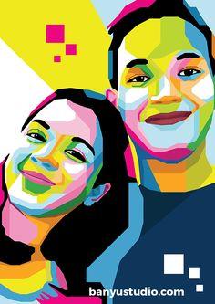 WPAP Art couple hadiah menarik untuk ulang tahun #kado #couple #hadiah #ulangtahun #ultah #birthday #WPAP #art