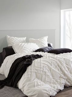 Chenille embroidery duvet cover set | Linen House | Shop Duvet Covers online | Simons