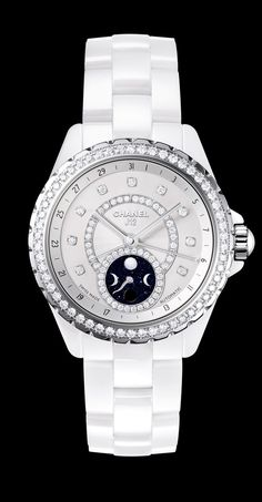 CHANEL J12 Moonphase White Ceramic with Diamonds