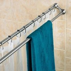Attrayant Bathroom Shower Curtain Rod Duo Brushed Nickel $38.97