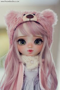 Welcome to Poison Girl's Dolls! Pullip & Blythe custom dolls for sale in my shop. Kawaii Anime, Kawaii Doll, Girly Drawings, Cute Kawaii Drawings, Cute Cartoon Girl, Cartoon Girl Drawing, Pretty Dolls, Beautiful Dolls, Ooak Dolls