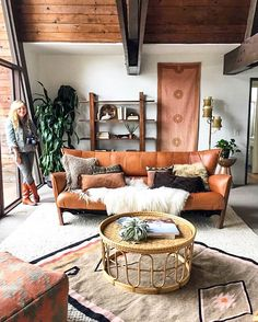A-frame Cabin Interior Design for the Bohemian Home | Fringe Accessories Design and Styling by Lasso Abode.  Interior Design and Staging by A 1000 x Better.