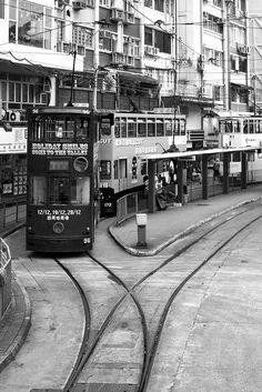 #Hongkong #Trams #B #Blackandwhite