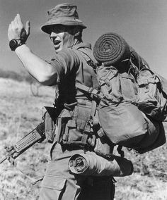"""georgy-konstantinovich-zhukov: """" A South African infantryman during the Border War, in the 1980s. By the end of the '80s, South Africa had been involved in combating SWAPO and its aliies for two whole..."""