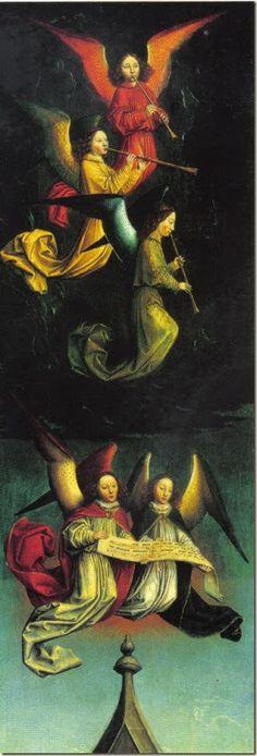 "Obra de Simon Marmion €"" A Choir of Angels The National Gallery, London"