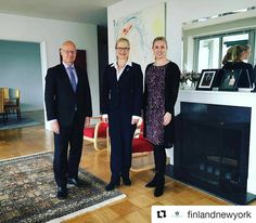 Today Consul General Virtamo had a pleasure to host Ms Terhi Mölsä Chief Executive Officer of @fulbrightfinland and to discuss the #educational exchange between #Finland and the #USA  #nyc #ny #newyork #education #science #koulutus #tiede #fulbrightfinland  #Repost @finlandnewyork