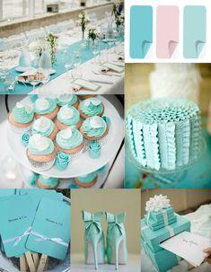 Blue Wedding ideas - classic tiffany blue inspired wedding color ideas for 2014 trends