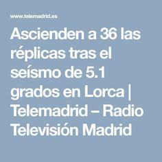 Ascienden a 36 las réplicas  tras el seísmo de 5.1 grados en Lorca | Telemadrid – Radio Televisión Madrid Madrid, Degree Of A Polynomial, News