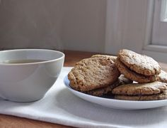 Separate Toasters: Almond Butter and Jam Sandwich Biscuits