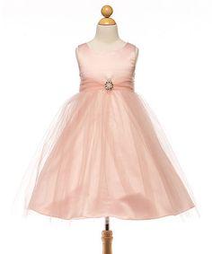 Loving this Pink Satin & Tulle Dress - Toddler & Girls on #zulily! #zulilyfinds