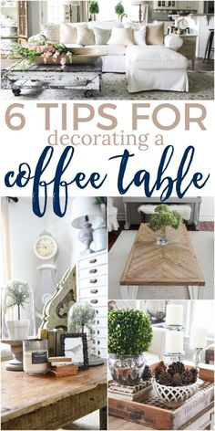 Home Interior Decoration 6 Tips for Decorating a Coffee Table Coffee Table Styling, Diy Coffee Table, Decorating Coffee Tables, How To Decorate Coffee Table, Coffee Coffee, Coffee Table Vignettes, Coffee Pods, What To Put On A Coffee Table, Coffee Decorations