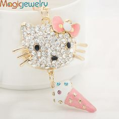 New Rhinestone Bow Cat Keychain Keyring Fashion Enamel Pendant Ice Cream Metal Key Chain Ring  http://www.aliexpress.com/store/product/New-Rhinestone-Bow-Cat-Keychain-Keyring-Fashion-Enamel-Pendant-Ice-Cream-Metal-Key-Chain-Ring-for/1246187_1929153714.html