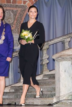 Royals & Fashion - Princess Victoria attended a conference on peace held at the Stockholm City Hall.