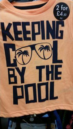 Keeping cool by the pool boys graohic tshirt