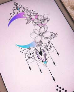inspirational tattoos Katowice/Wroclaw Available design # # Flower Tattoo Designs, Tattoo Designs For Women, Tattoos For Women, Moon Tattoo Designs, Tattoo Women, Mehndi Designs, Unique Tattoos, Beautiful Tattoos, Small Tattoos