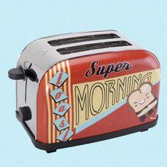 Brødristeren+Crazy+Diner+er+brødristeren+som+får+en+i+godt+humør+om+morgenen+takket+være+det+morsomme+designet.  Den+har+trinnløs+termostat,+en+effekt+på+700+watt,+to+spor+samt+smulebrett+for+enkelt+vedlikehold.  Den+er+i+metall.    Str:24+x+12,5+x+17+cm Toaster, Kitchen Appliances, Design, Small Appliances, Chaise Longue, Gift Ideas, Velvet, Diy Kitchen Appliances, Home Appliances