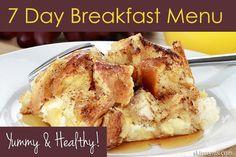 7 Day Breakfast Menu - Yummy & Healthy