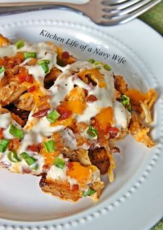 The Kitchen Life of a Navy Wife: Buffalo Chicken Casserole