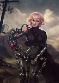 Bionic Girl - Challenge, Max Schulz on ArtStation at http://www.artstation.com/artwork/bionic-girl-challenge