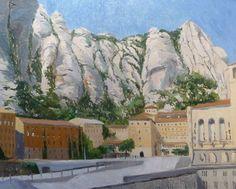 Un cuadro de la Abadía de Montserrat en Barcelona.  Más detalles en: http://www.rubendeluis.com
