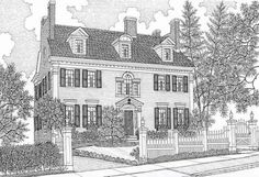 Custom House Portrait Gift Certificate x 15 pen and ink illustration) Gift, Home Rendering, Original Art, House Drawing, Architecture Landscape Architecture Perspective, Landscape Elements, House Drawing, Ink Illustrations, Illustrator Tutorials, To Color, Some Pictures, Custom Homes, Original Art
