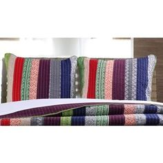 Shop for Greenland Home Fashions Marley Pillow Sham Set (Set of Get free delivery On EVERYTHING* Overstock - Your Online Bedding Basics Store! Get in rewards with Club O!
