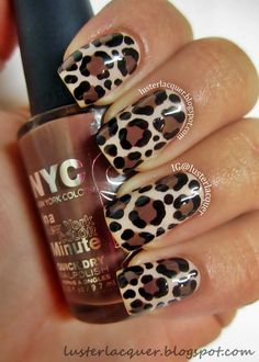 quenalbertini: Leopard print nails by Jennifer Milsaps Peffers Love Nails, How To Do Nails, Pretty Nails, My Nails, Leopard Nail Art, Leopard Print Nails, Leopard Prints, Animal Prints, Gel Designs