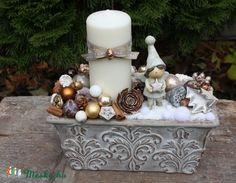 Gyertyás karácsonyi asztaldísz - Madárka Bazár