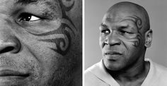 mike tyson boxer tattoos face pictures