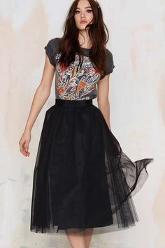 Nasty Gal Get into the Groove Tulle Skirt
