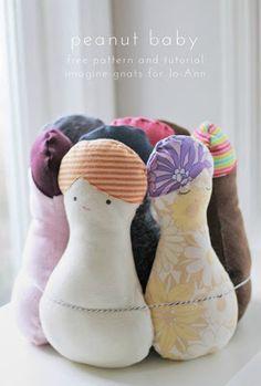 donneinpink - risparmio e fai da te: Bambole di stoffa facilissime cartamodello e tutor...