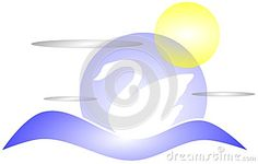 Artistic image that represents a stylized swan on water.
