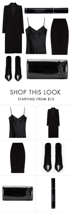 """I'll Stop Wearing Black When They Invent a Darker Colour"" by crown-princess-ani ❤ liked on Polyvore featuring Galvan, Alexander McQueen, Yves Saint Laurent and Christian Dior"