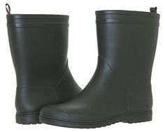 Capelli New York Matte Solid MidCalf Ladies Rain Boots Olive 10 * To view further for this item, visit the image link.