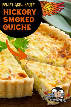 Hickory Smoked Quiche Recipe. Delicious easy breakfast recipe pellet grilling style. Make a quick breakfast that is fancy enough for a holiday brunch but easy enough for a weekend breakfast at home. Start your day with a delicious protein packed breakfast with this BBQ breakfast recipe! #Quiche #Cookinpellets #PelletGrilling #breakfast #breakfastrecipe Smoker Grill Recipes, Grilling Recipes, Grilling Tips, Quiche Recipes, Bacon Recipes, Brunch Recipes, Breakfast Sandwich Recipes, Protein Packed Breakfast, Smoking Recipes