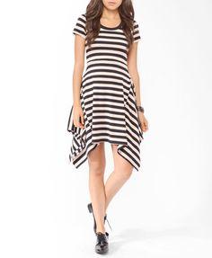 striped handkerchief hem dress- $19.80