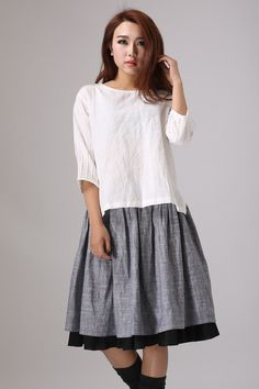 af2ab0091ba8 Linen top white linen top Loose Linen blouse loose top Summer Blouses