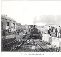 Barclay loco Invicta on a works train coming into the old Brownhills West Station