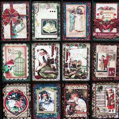 Vintage Christmas Decoration Unique Altered Printers Tray