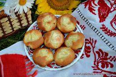 CAIETUL CU RETETE: Briose cu ananas Pretzel Bites, Sprouts, Muffins, Cupcakes, Bread, Vegetables, Pizza, Food, Pineapple