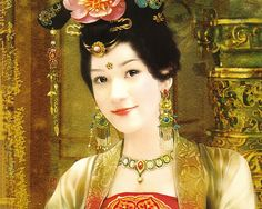 The Ancient Chinese Beauty by Der Jen  - The Ancient Chinese Beauty Art Painting Wallpaper  3