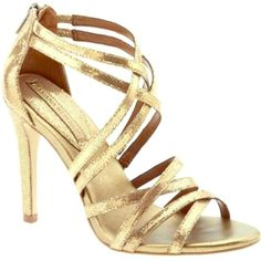 Banana Republic Gold Strappy Heels In excellent condition. Just worn on my wedding day. Has little wear on soles. Size 6M. It has 3.5 inch heels and zip-up closure at the back. Pricing low doesn't mean it's worth any less than the others or it has any flaws. Just offering a good deal to have more space in my closet. Banana Republic Shoes Heels