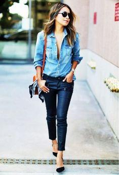 Camisa jeans+ Calça jeans