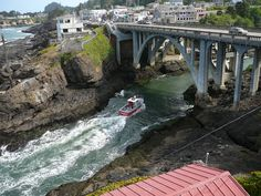 Depoe Bay, Oregon. Such a cool little village.