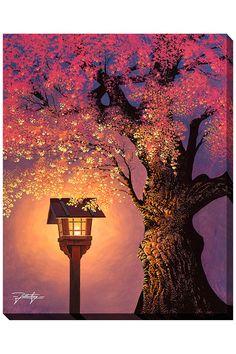 """Jon Rattenbury Under the Sakura, Giclee on Canvas (20"""" x 16"""") - Beyond the Rack"""