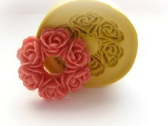 Rose Wreath Mold Flower Silicone Flexible Clay Resin Mould