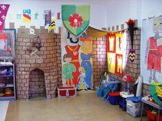 Leuk idee om de hal van school zo te versieren Castle Theme Classroom, New Classroom, Classroom Themes, Fairytale Party, Fairytale Castle, Don Mendo, Fairy Land, Fairy Tales, Science Display
