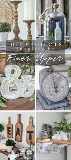"""Collection of 13 DIY projects for the home inspired by Joanna Gaines and """"Fixer Upper."""" #diy #fixerupper 