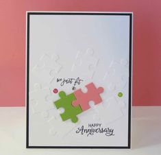 Karina's Kreations: Stampin'Up Love You to Pieces Anniversary Card!