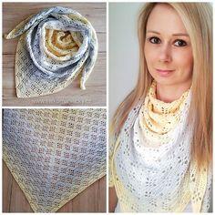 Šátek Jasmína - Šátkomaniačky Crochet Shawls And Wraps, Crochet Scarves, Yarn Crafts, Crochet Stitches, Beanie, Knitting, Accessories, Crocheting, Fashion